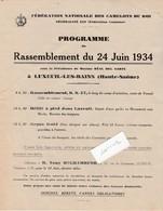 Petite Affiche Féd Nale Camelots Du Roi /Défilé Royaliste 24 Juin 1934 / 70 Luxeuil /Insignes Bérets Cannes Obligatoires - Historical Documents