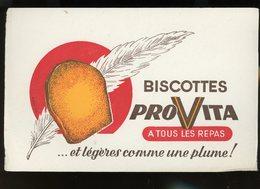 BUVARD:  BISCOTTES PROVITA - FORMAT  Env. 13,5X21 Cm - Biscottes
