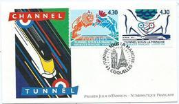Enveloppe 1er Jour France FDC Tunnel Sous La Manche 1994 - FDC