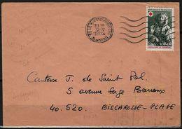 Automation Courrier Avec Tirets Jaunes Fluo - Enveloppe 1974 De Le Plessis 92 Pour Biscarosse 40 Indexation Big 21 - Marcophilie (Lettres)