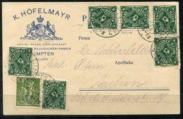4453 - D.R. - Geschäftskarte Mit 226 B (6 - 1 Defekt) + 187 C --- Infla Geürft - Deutschland