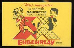BUVARD:  GAUFRETTE EUBEURLAY - FORMAT  Env. 13,5X21 Cm - Biscottes
