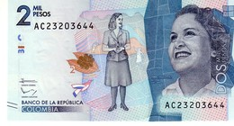 Colombia P.458 2000 Pesos 2015  Unc - Colombia