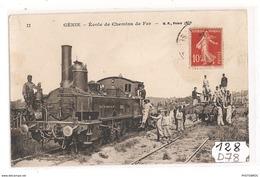 128  FRD78 GENIE ECOLE DE CHEMIN DE FER TTB - Versailles