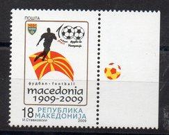 MACEDOINE - MACEDONIA - FOOTBALL - SOCCER - 100 YEARS - 100 ANS - 2009 - Bords De Feuillet - - Macédoine