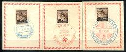 4458- BÖHMEN Und MÄHREN - 3 Farbige Sonderstempel Aus PRAG (2) Und ZLIN - Böhmen Und Mähren