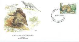 Enveloppe 1er Jour Grenada FDC Mongoose 1990 - Grenade (1974-...)