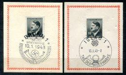 4459 - BÖHMEN Und MÄHREN - 2 Sonderstempel TAG DER BRIEFMARKE 1943 Aus IGLAU + BRÜNN - Böhmen Und Mähren
