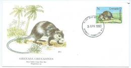Enveloppe 1er Jour Grenada FDC Rat 1990 - Grenade (1974-...)