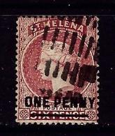 St Helena 35 Used 1887 Overprint Issue - Saint Helena Island