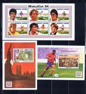 Sierra Leone 1731-33 NH 1994 World Cup Set - Sierra Leone (1961-...)