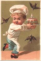 Chromo, Trade Card. Le Gateaux Du Patissier Attaquée Par Les Oiseaux. Pasticciere, Torta Uccelli. Testu Massin 14-12/4 - Autres
