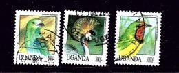 Uganda 1072-74 Used 1992 Birds Partial Set - Uganda (1962-...)