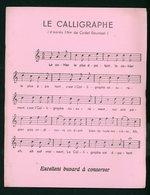 BUVARD:  LE CALLIGRAPHE (AIR DE CADET ROUSSEL) - FORMAT  Env. 16,5X21 Cm - Buvards, Protège-cahiers Illustrés