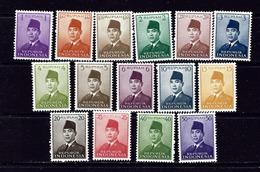 Indonesia 387-400 MNH 1951-53 Set - Indonesia