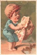 Chromo, Victorian Trade Card. Bébé Au Bord De La Mer. Testu Massin 14-12/2 - Autres