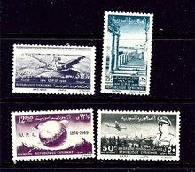 Syria 349-50 And C154-55 MNH 1949 UPU 75th Anniversary - Syria