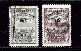 Salvador 414-15 Used 1915 Issues - El Salvador