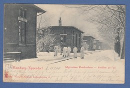 AK Hamburg Eppendorf Krankenhaus Pavillon 30-36 Gelaufen 1903 - Allemagne