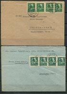 4464 - SBZ-Thüringen - 2 Briefe Mit MeF - 95by (4) Und 95 Dt (4) - BESCHREIBUNG LESEN !!! - Zone Soviétique