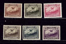Ecuador C51-56 MH 1937-46 Airmail Set - Ecuador