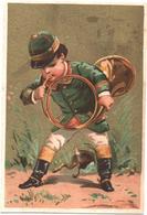 Chromo, Victorian Trade Card. Pendant Que Le Chasseur Appelle Les Chiens, Le Lievre S'en Fuit. Testu Massin 14-3/3 - Autres