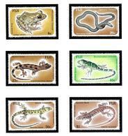 Fiji 554-59 MNH 1986 Reptiles - Fiji (1970-...)