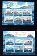 Pitcairn Is 696 And 711 MNH 2009-10 Royal Navy Visitors Sheets - Pitcairninsel
