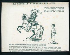 BUVARD:  LA SECURITÉ À TRAVERS LES AGES - FORMAT  Env. 15X20,5 Cm - Buvards, Protège-cahiers Illustrés