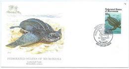 Enveloppe 1er Jour Micronesie FDC Tortue 1991 - Micronésie