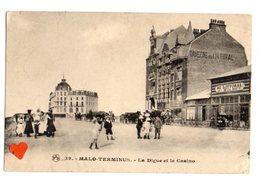 34723-ZE-59-MALO-TERMINUS-La Digue Et Le Casino-------------animée-attelages - Malo Les Bains