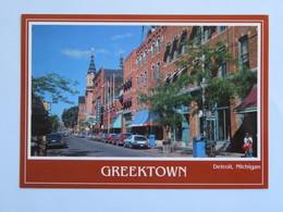 Carte Postale : USA, Michigan DETROIT Greektown - Detroit