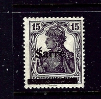 Saar 7 MH 1920 Overprint - Deutschland