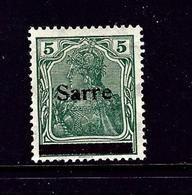 Saar 4 MH 1920 Overprint - Deutschland
