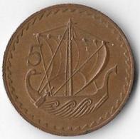 Cyprus 1977 5 Mils [C322/1D] - Chypre