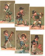 Série Complète De 6 Chromos. Occupations Comiques D'enfants. Ragazzi In Scene Comiche O Curiose. Testu Massin 14-3 - Autres