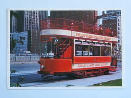 Carte Postale : USA, Michigan DETROIT Trolley - Detroit