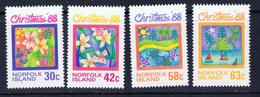 Norfolk Is 440-43 MNH 1988 Christmas - Norfolk Island