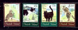 Norfolk Is 638-41 MNH 1998 Cats - Norfolk Island