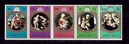 Anguilla 228b MNH 1975 Christmas Strip Of 5 (been Folded) - Anguilla (1968-...)