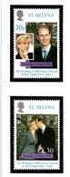 St Helena 733-34 MNH 1999 Prince Edward Wedding - Prince Edward (Island)