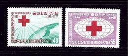South Korea 295-96 MNH 1959 Red Cross - Corée (...-1945)