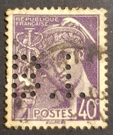 1938-1942, New Daily Stamps, Mercury, France, Republique Française, Used - 1876-1878 Sage (Type I)