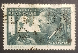 1937, The 1st Anniversary Of The Death Of Jean Mermoz, France, Republique Française, Used - 1932-39 Paix