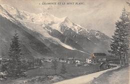 """07652 """"CHAMONIX ET LE MONT BLANC"""" CART. ORIG. SPED. '912. - Chamonix-Mont-Blanc"""