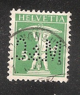 Perfin/perforé/lochung Switzerland No YT130/136 The Son Of W. Tell M.&C.  Minet & Co  Klingnau - Perforés