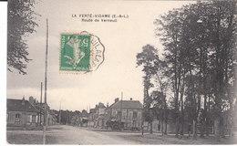 CPA LA FERTE-VIDAME (28) ROUTE DE VERNEUIL (CACHET AMBULANT De VERNEUIL à LA PUISAYE) - France