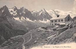 """07653 """"CHAMONIX - LA FLÉGÈRE ET LE MONT BLANC"""" CART. ORIG. SPED. '909. - Chamonix-Mont-Blanc"""