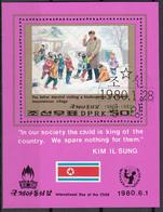 DPR Korea 1980 Sc. 1913 International Day Child Kim Il Sung Sheet Perf. CTO Corea - Corée Du Nord