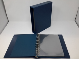 Lindner Ringbinder/Kassette 1130 Blau M. 20 Blatt 819 (DIN A5) Gebraucht (Z1560) - Albums & Reliures